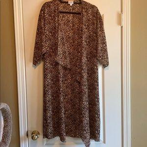 LuLaRoe Leopard/Cheetah print Shirley Kimono
